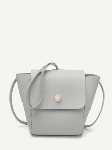 Faux Pearl Flap Swing Bag
