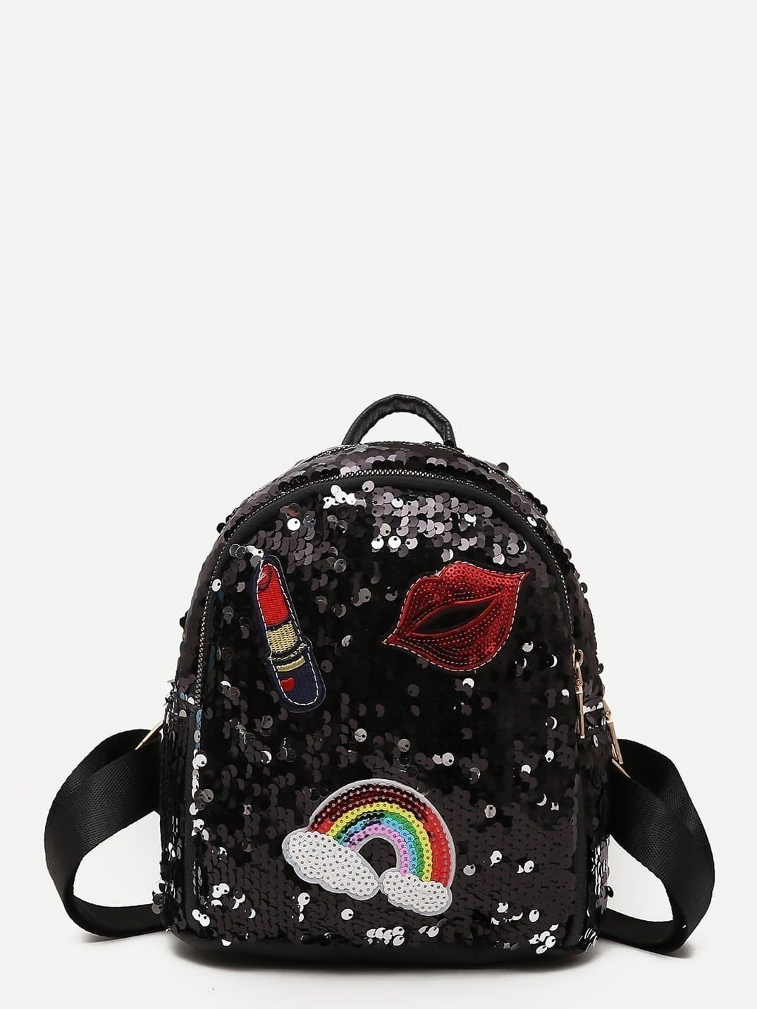 Sequin Decor Embroidery Backpack sequin