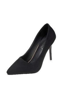 Suede Pointed Toe Stiletto Heels