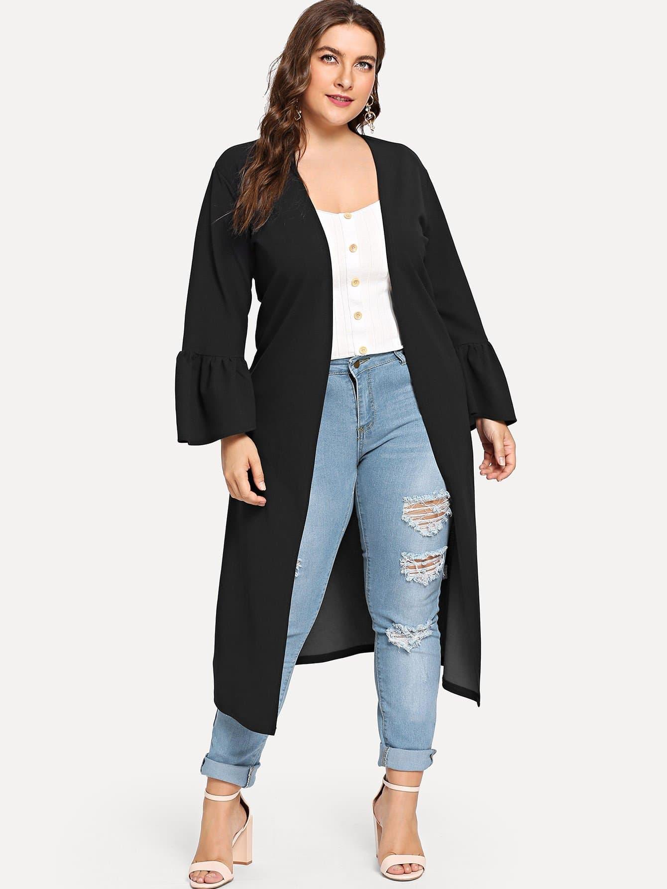 Куртка с широкими рукавами, Franziska, SheIn  - купить со скидкой