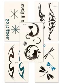 Totem Pattern Tattoo Sticker Set 5pcs