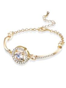 Round Gemstone Design Bracelet