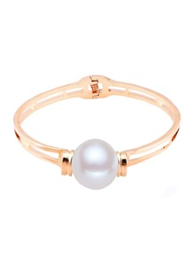 Faux Pearl Decorated Layered Bangle