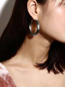 Plain Crude Hoop Earrings
