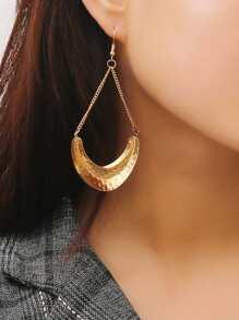 Textured Detail Drop Earrings