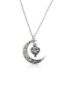Moon Pendant Openable Chain Necklace