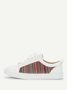 Round Toe Lace Up Sneakers
