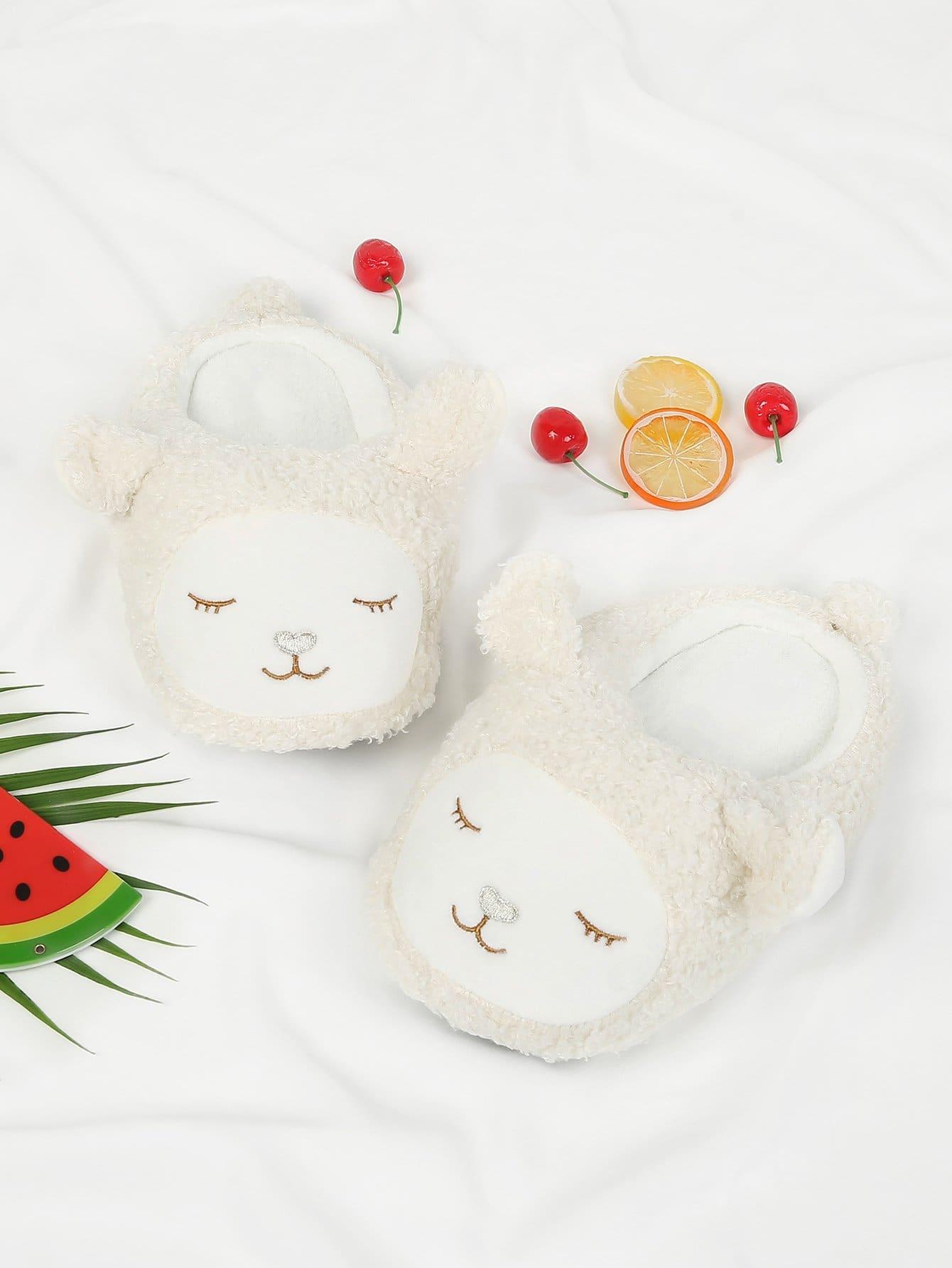 Купить Alpaca Design Flat Slippers, null, SheIn