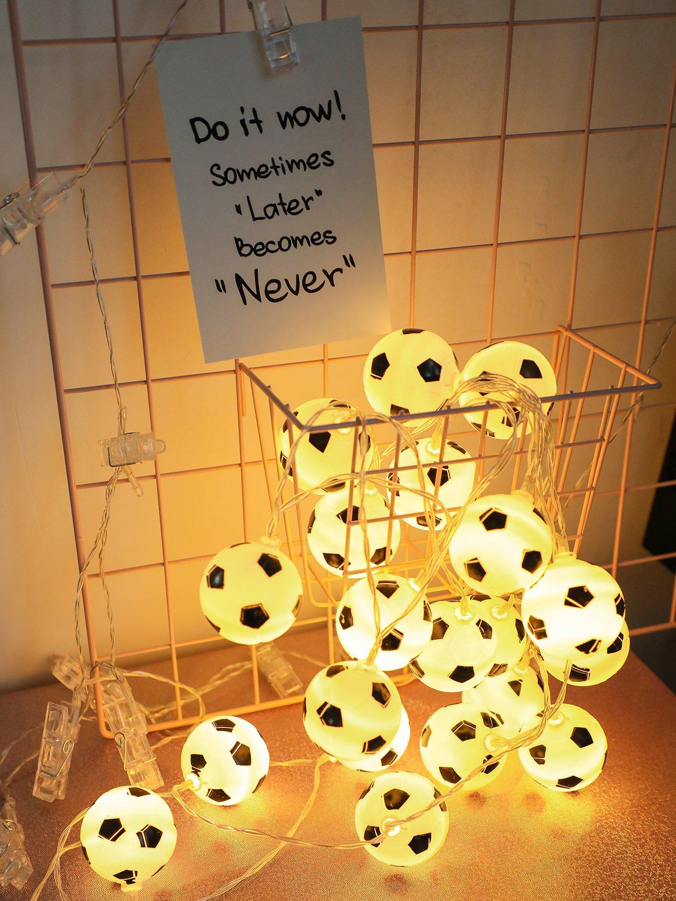 Купить Строковые лампы в форме футбола 20шт, null, SheIn