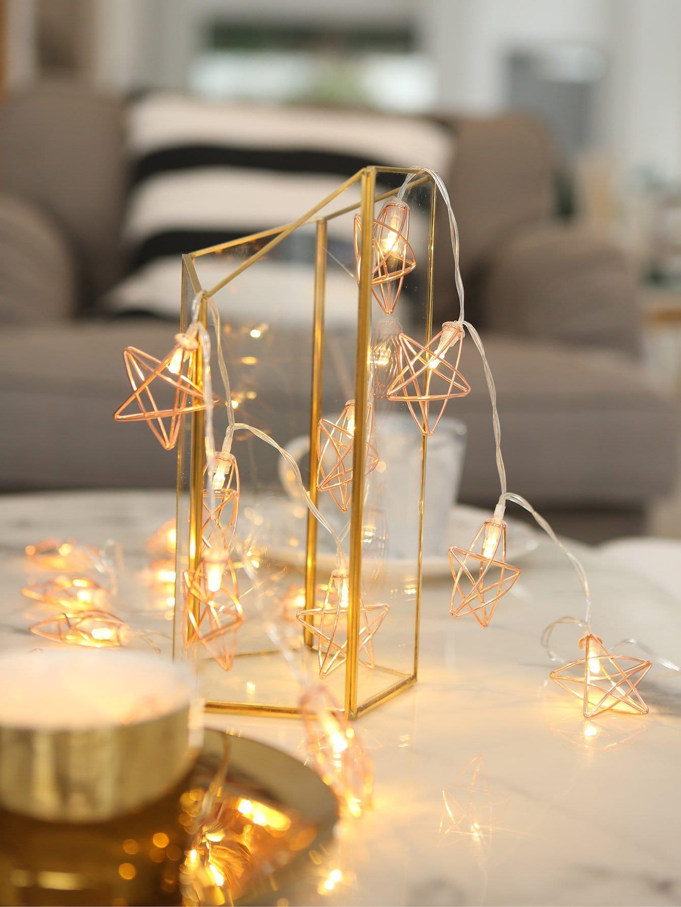 Купить Строковые лампы в форме звезды 20шт, null, SheIn