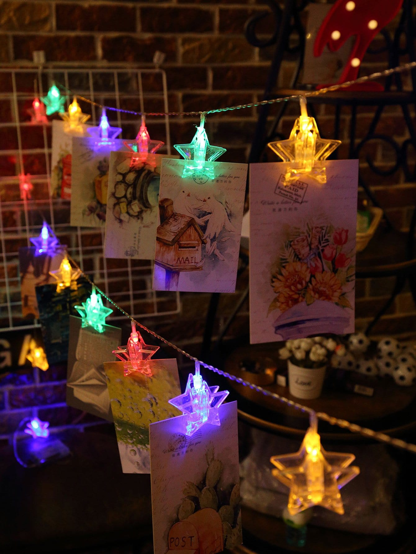 20pcs Star Clips String Light large paper clips 20pcs
