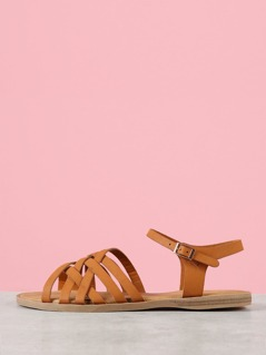 Strappy Sling Back Flat Sandal