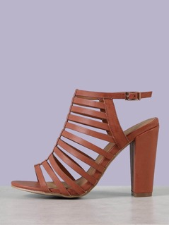 Strappy Ankle Strap Chunky Heel