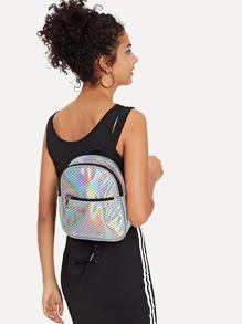 Scale Pattern PU Backpack