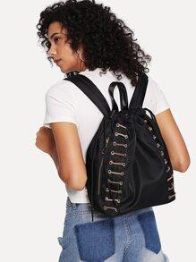 Drawstring Design Backpack