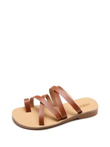 Toe Ring Cross Strap Sandals