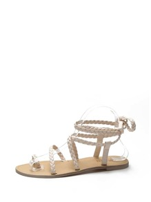 Toe Ring Braided Strap Sandals