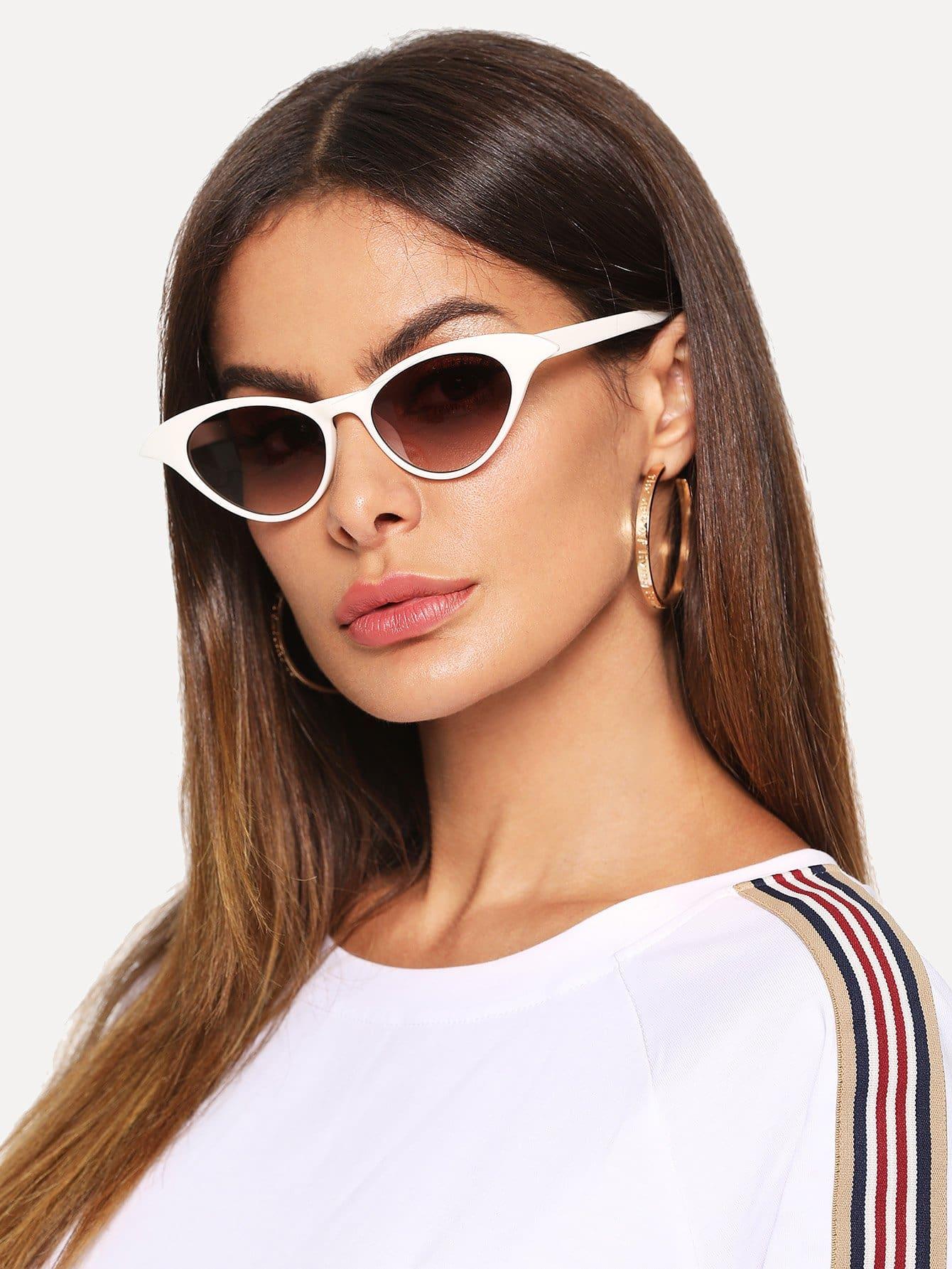 Купить Солнцезащитные очки в форме глаз кота, null, SheIn