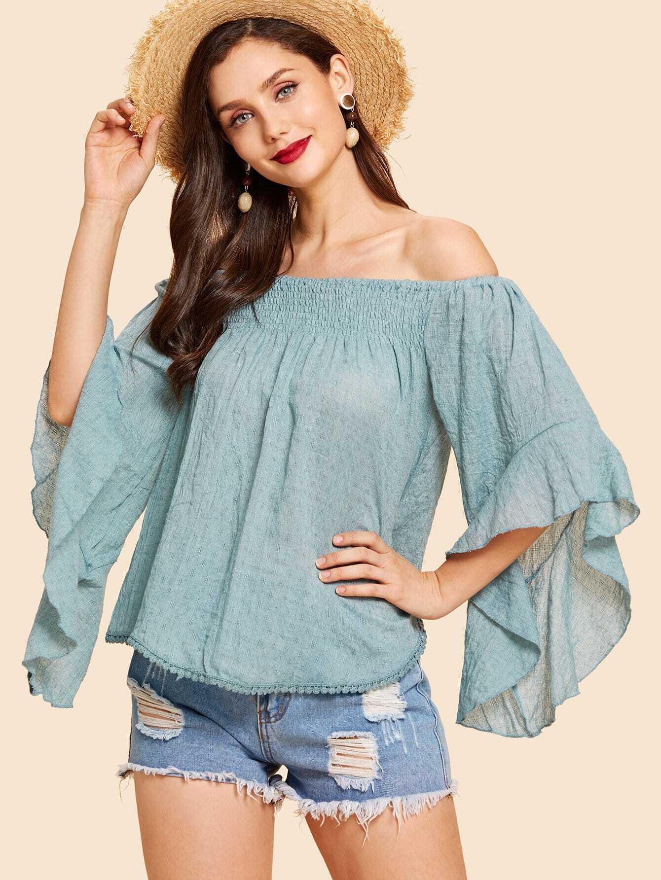 Купить Рубашка на бретелях и с непринужденными рукавами, Julie H., SheIn