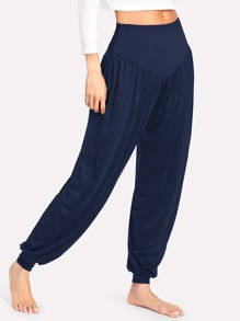 Elastic Waist Pleated Pants
