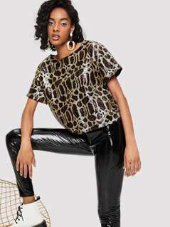 Sequin Panel Top