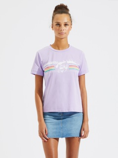 Wave and Letter Print Tee