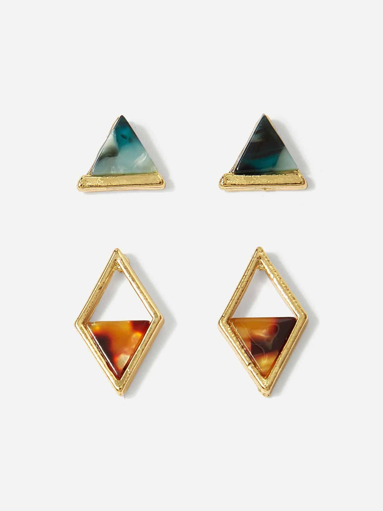 Dreiecke geformter Ohrpcsecker 2 Paare