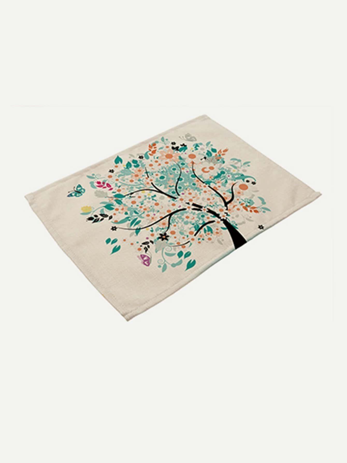 Tree Print Placemat palm print placemat