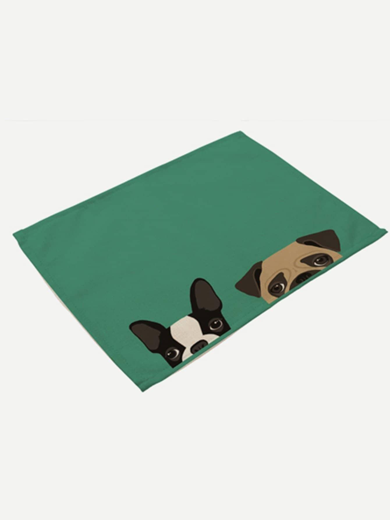 Dog Print Placemat palm print placemat
