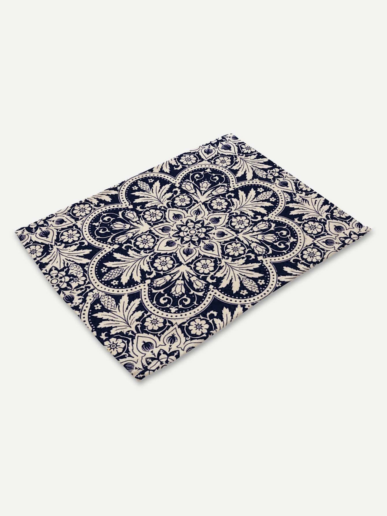 Print Pattern Placemat palm print placemat