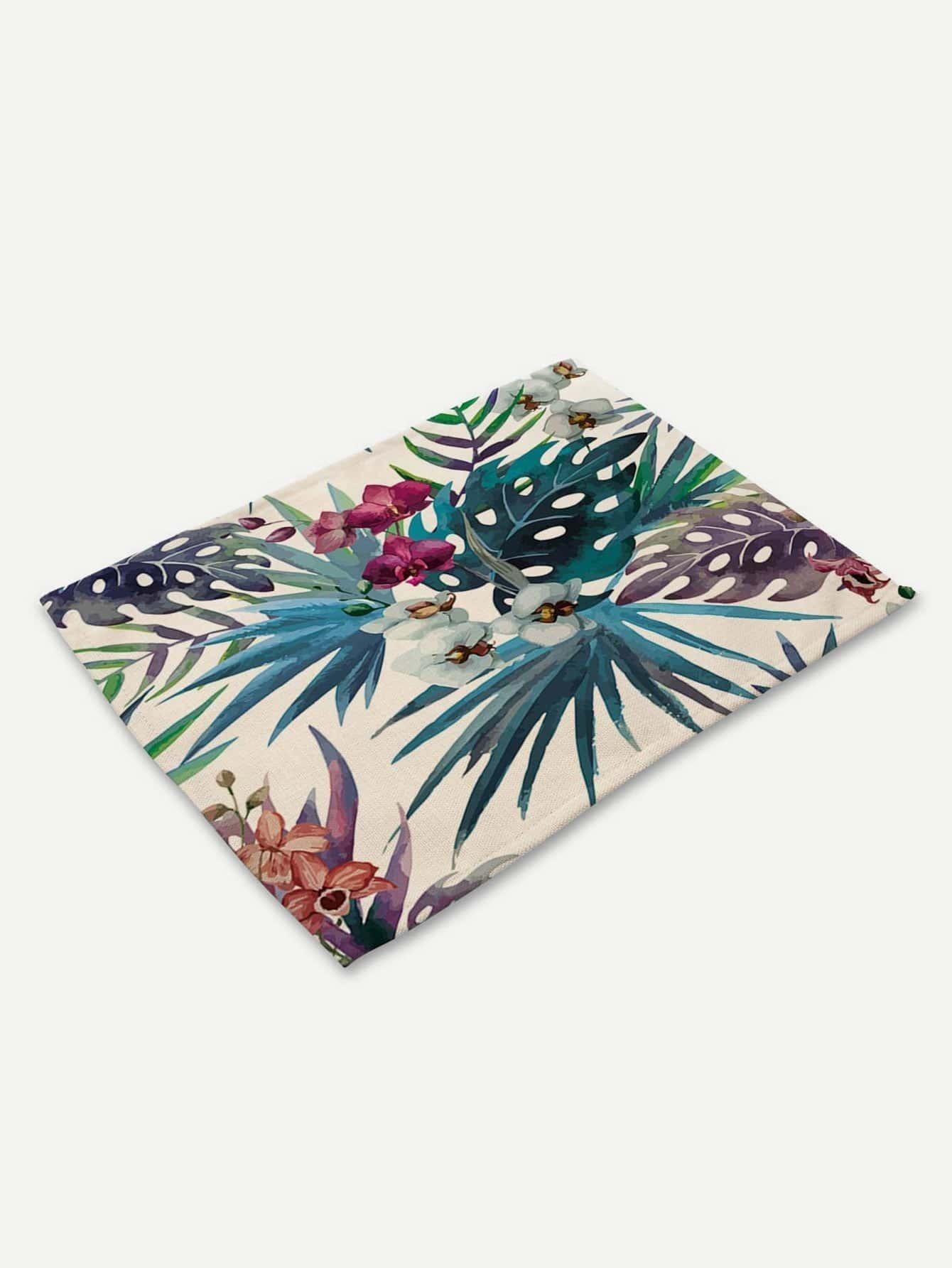 Tropical plant Print Placemat palm print placemat