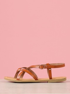 Strappy Sling Back Thong Sandal
