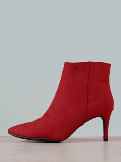 Faux Suede Pointy Toe Bootie