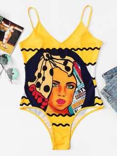 Graphic Cami Bodysuit