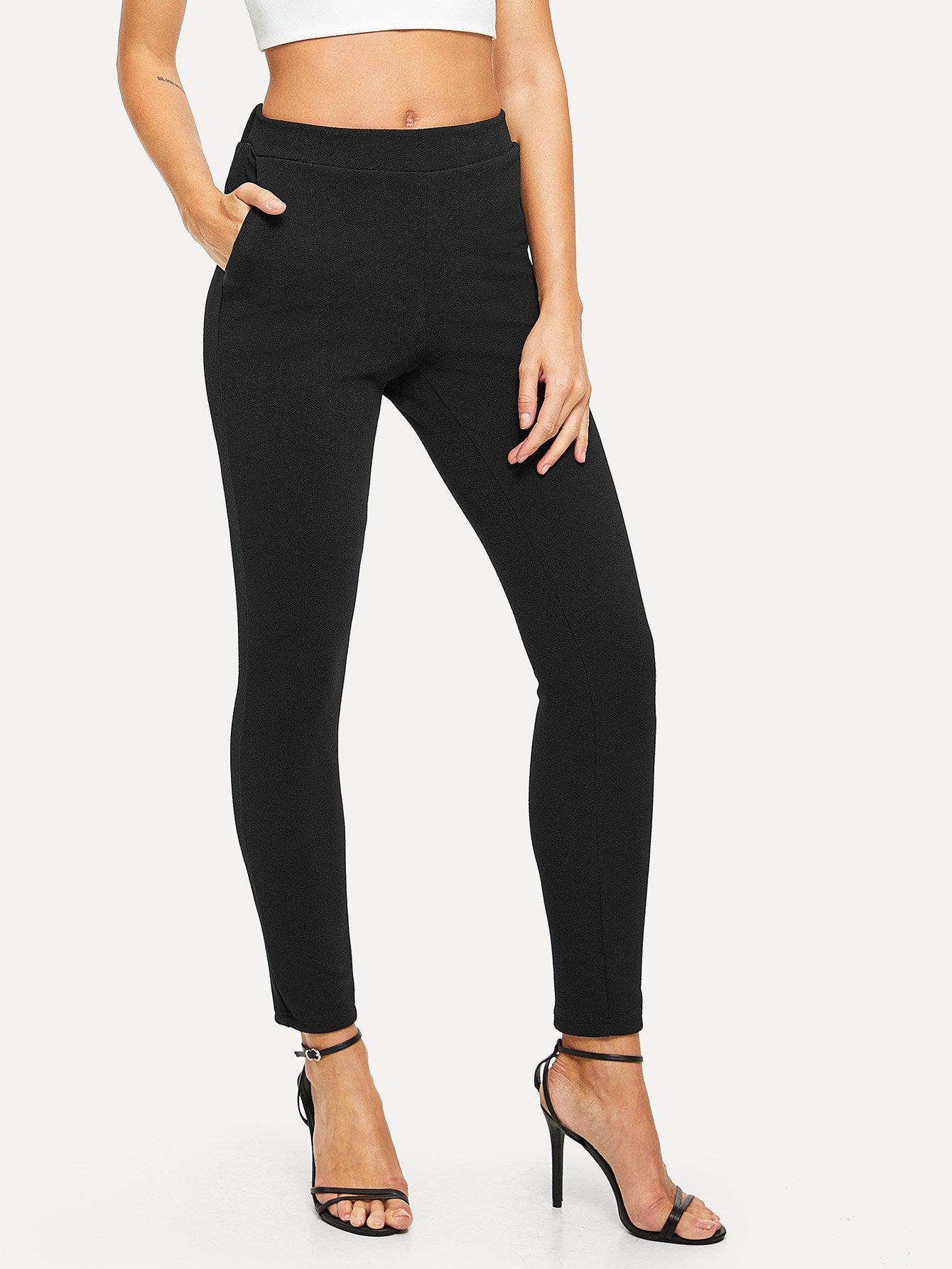 Купить Вертикальные полосатые тощие брюки, Masha, SheIn
