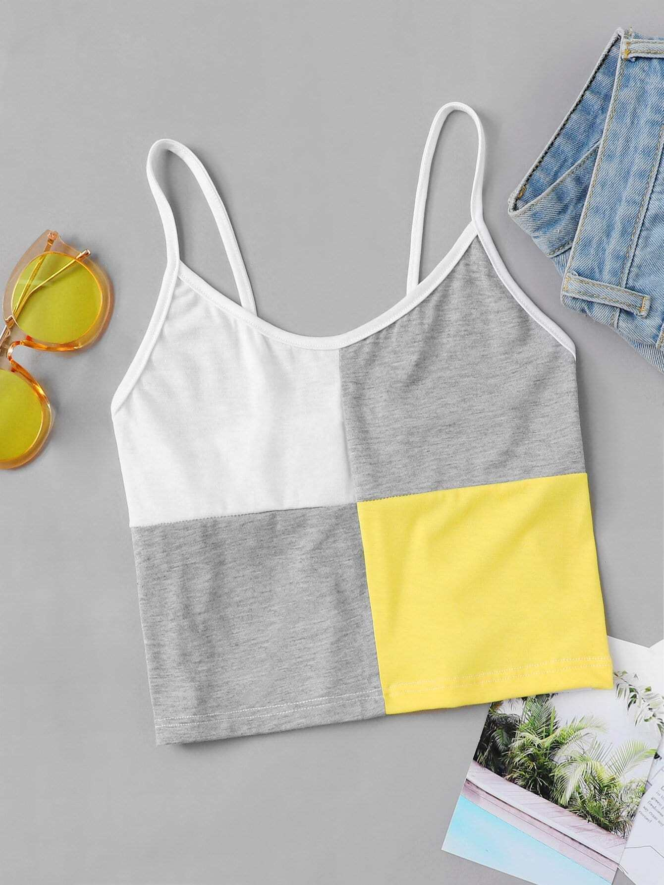 Cut and Sew Crop Cami Top