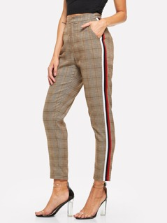 Striped Sideseam Plaid Pants
