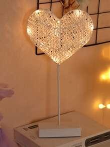 10pcs Bulbs Heart Shaped Table Lamp