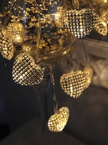 20pcs Heart Shaped Bulb String Light