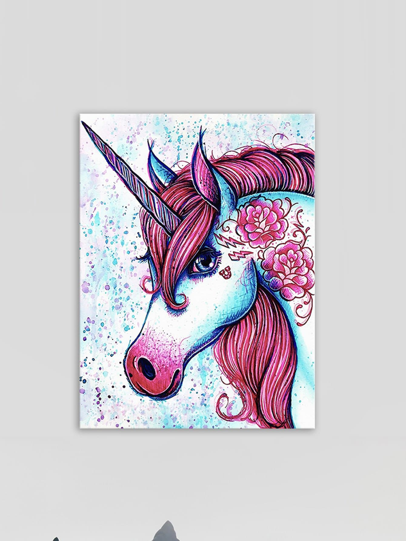 Unicorn Painting Cloth Wall Art