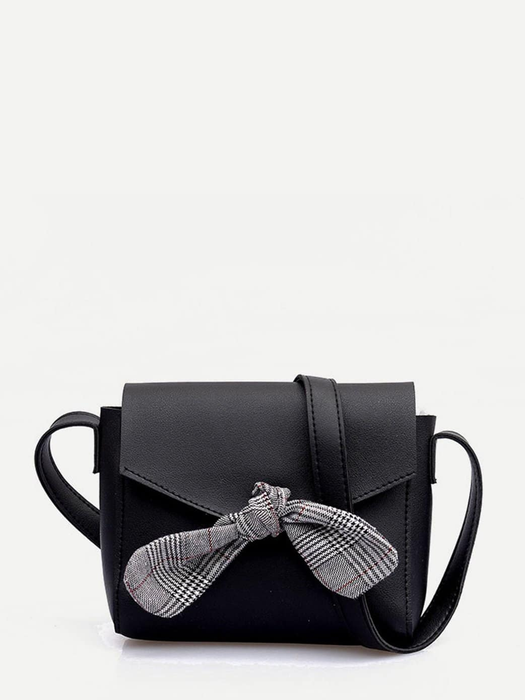 Plaid Bow Crossbody Bag