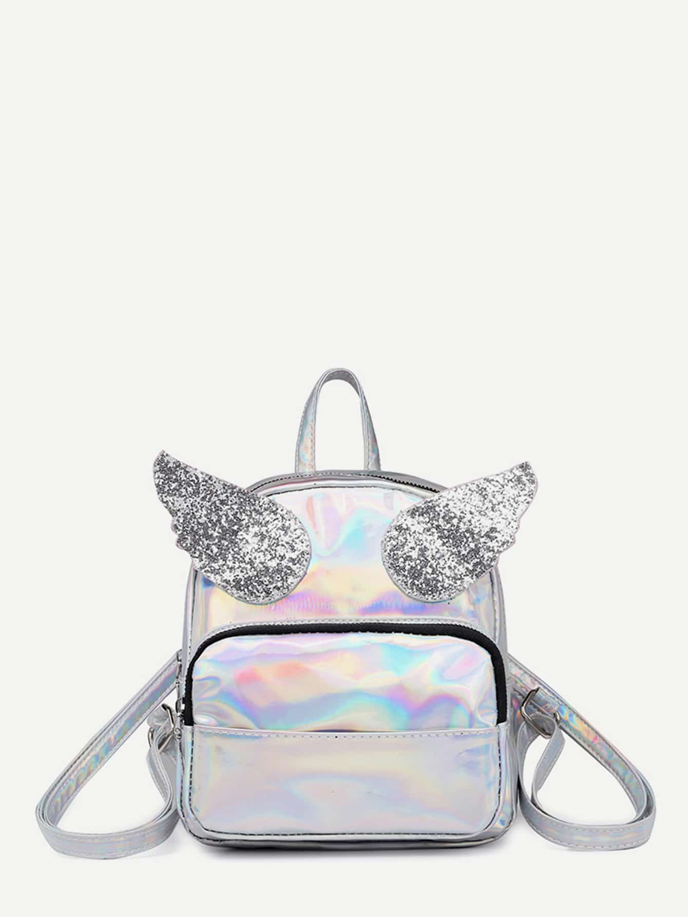 Angel Wings Decor Backpack свитшот print bar оптика