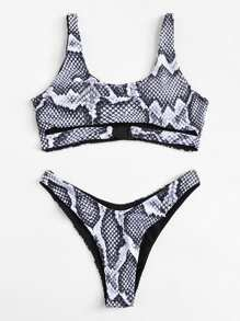 Snake Print Bikini Set