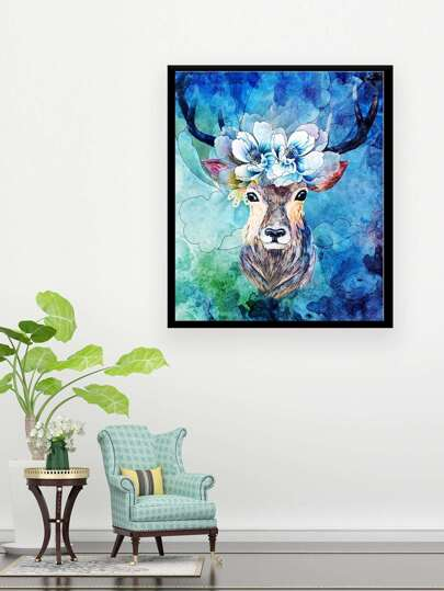 SheIn / Deer Painting Cloth Wall Art