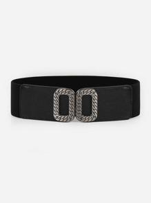 Chain Pattern Buckle Belt