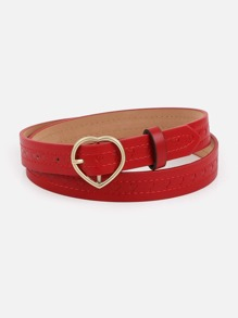 Heart Shaped Buckle Belt
