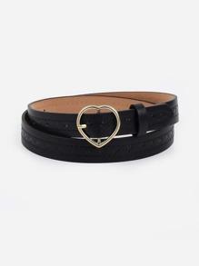 Heart Shaped Buckle Belt