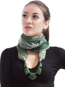 Beaded Necklace Scarf