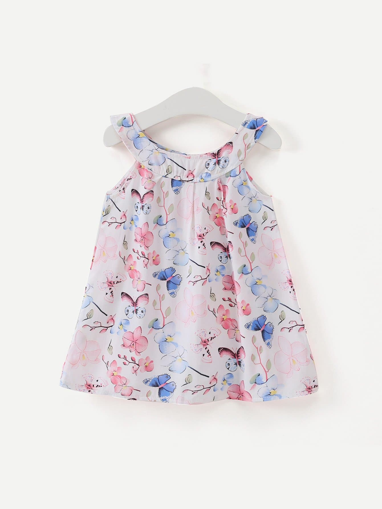 Girls Butterfly Print Dress