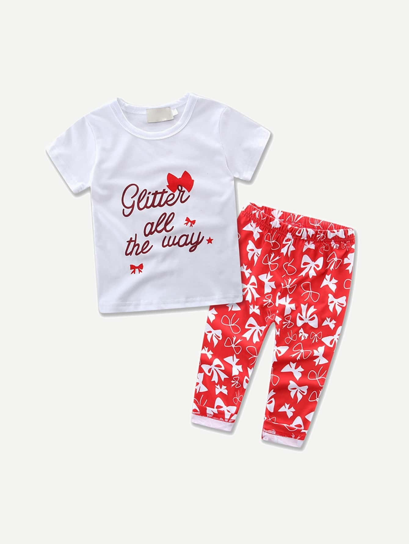 Girls Letter Print Tee With Pants kids letter print sleeveless tee with tropical print pants